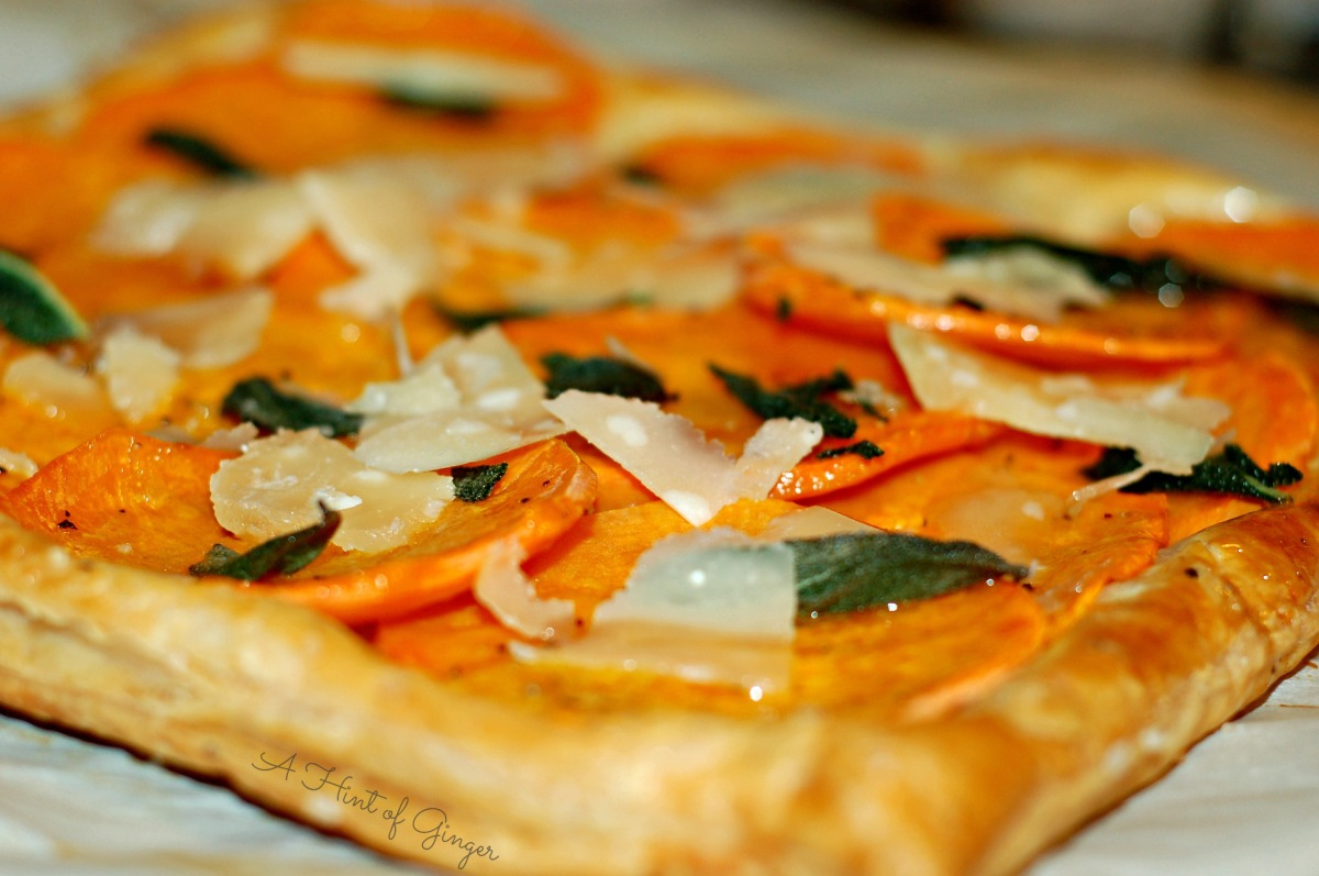 Butternut Squash Tart with Fried Sage and Parmesan | Ladies Night Treat
