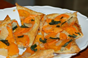 Butternut Squash Tart with Fried Sage and Shave Parmesan