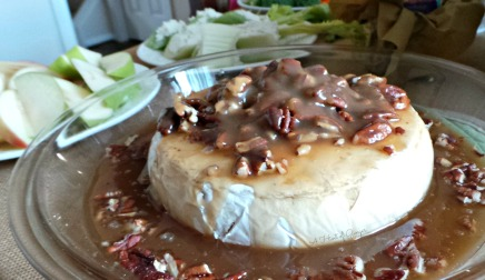 Praline Pecan Baked Brie