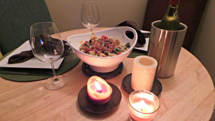 Romantic Dinner - Lobster over Pasta