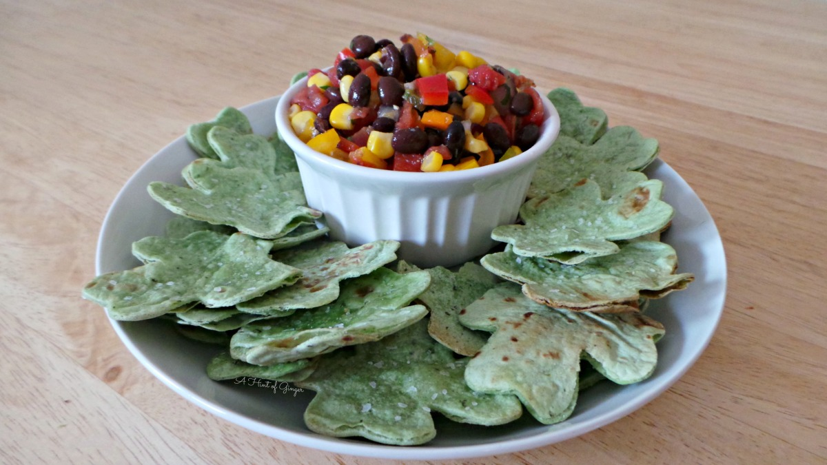 Homemade Salsa with Shamrock Tortilla Chips | Festive Fun