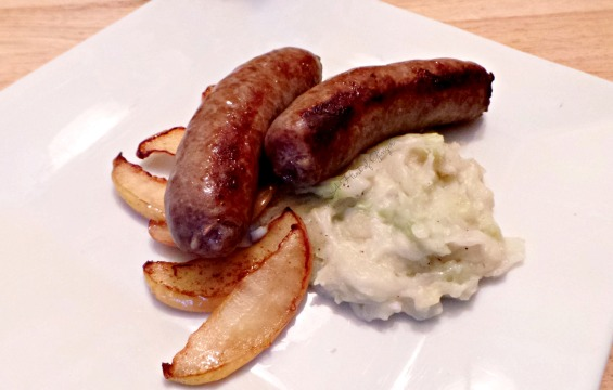 Pork Sausage with Colcannon and Sauteed Apples.jpg