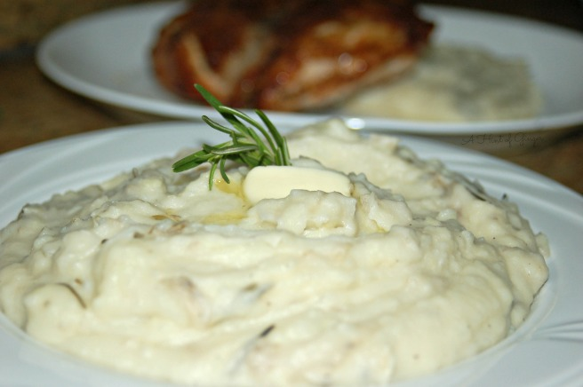Garlic, Rosemary, and Mascarpone Mashed Potatoes