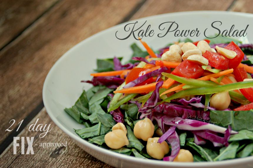 21 Day Fix Approved - Kale Power Salad