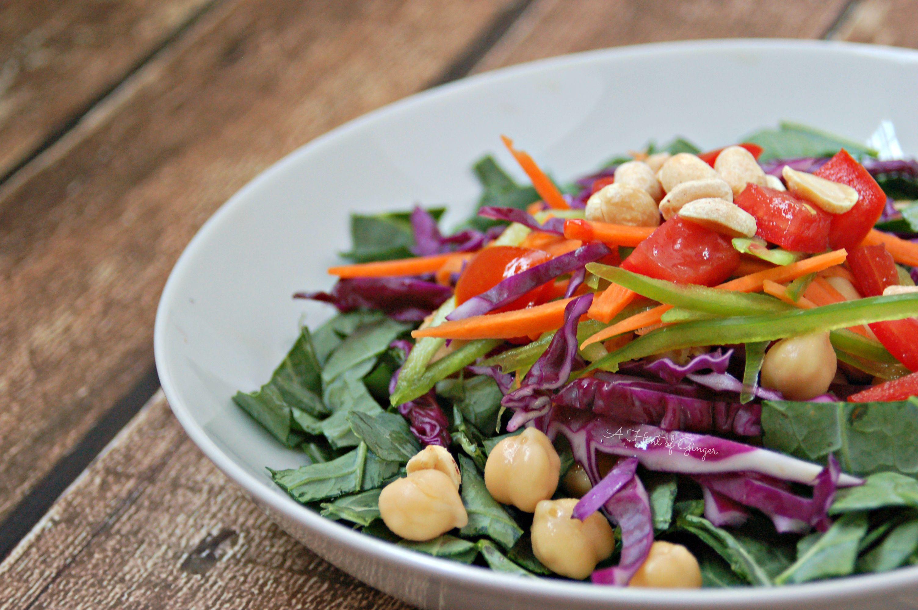 Kale Power Salad with Dijon Vinaigrette – A Hint of Ginger