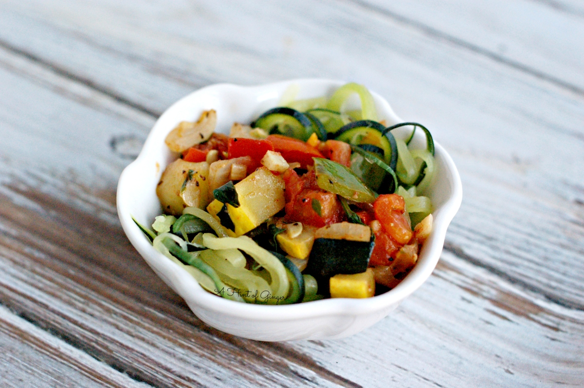 Zoodles with Sautéed Vegetables | A Twist on Pasta